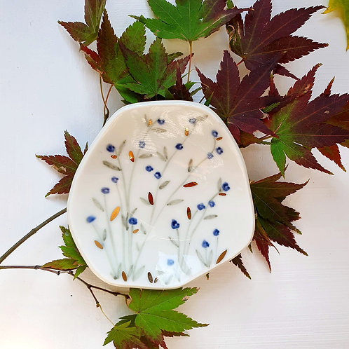 Blue jasmine jewellery holder porcelain dish
