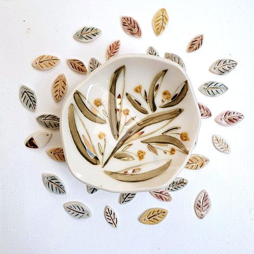 Orange Buttercup jewellery holder porcelain dish