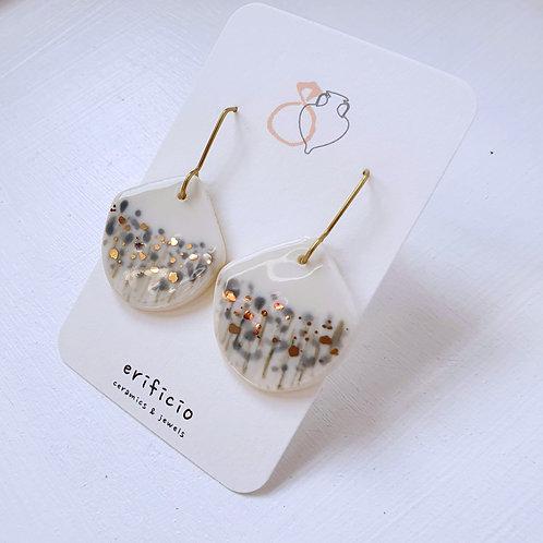 Blooming field porcelain earrings
