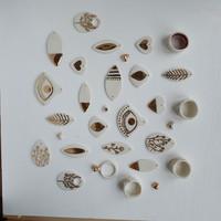 porcelain earrings from Erificio