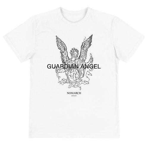 SUSTAINABLE UNISEX GUARDIAN ANGEL ECO T-SHIRT (WHITE)