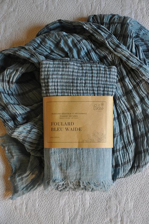 Foulard en coton rayé