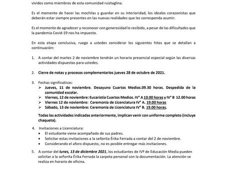 CALENDARIO CUARTOS MEDIOS