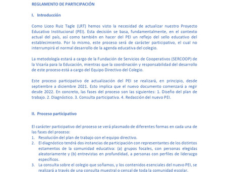 REGLAMENTO DE PARTICIPACIÓN