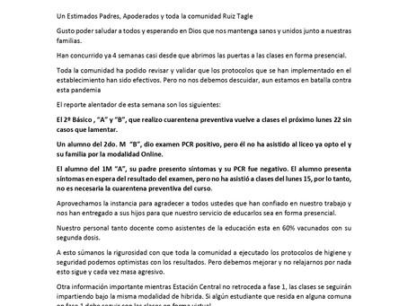 REPORTE #ENRUIZTAGLENOSCUIDAMOS 22 DE MARZO