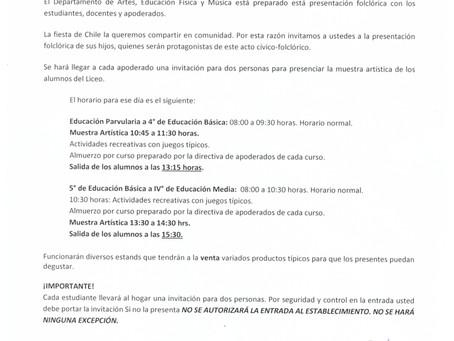 CIRCULAR INFORMATIVA JUEVES 12 DE SEPTIEMBRE
