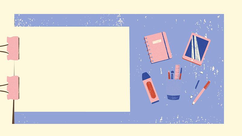 Rosa y Crema Ilustración Clase de Cienci