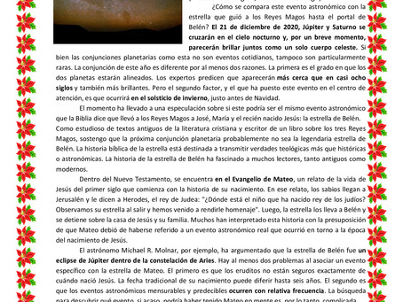 Júpiter y Saturno alineados: ¿es la conjunción de los dos planetas la estrella de Belén?