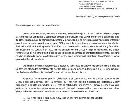 INFORMATIVO Nº6 PAGO MENSUALIDAD
