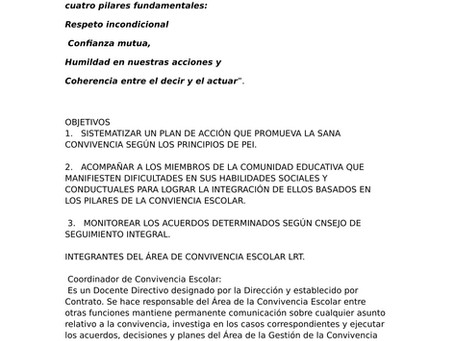 CONVIVENCIA ESCOLAR 2017-2020