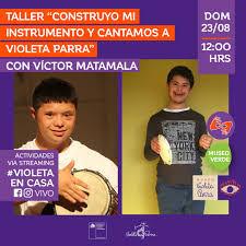 """Taller """"Construyo mi instrumento y cantamos a Violeta Parra"""" (Museo Verde)"""