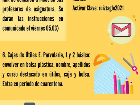ATENCIÓN RUTINA SEMANA 01 AL 05 DE MARZO