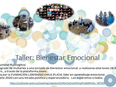 INVITACIÓN A TALLER BIENESTAR EMOCIONAL