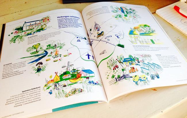 illustrations for lek magazine, 7 editions