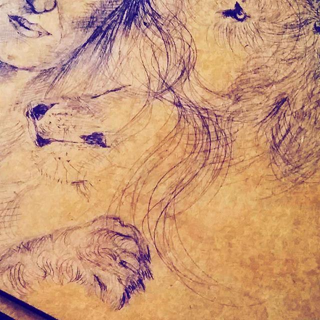 detail selfportret lion