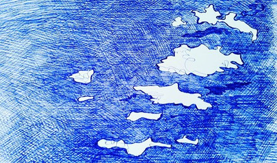 """everydaydrawing """"clouds"""" project"""