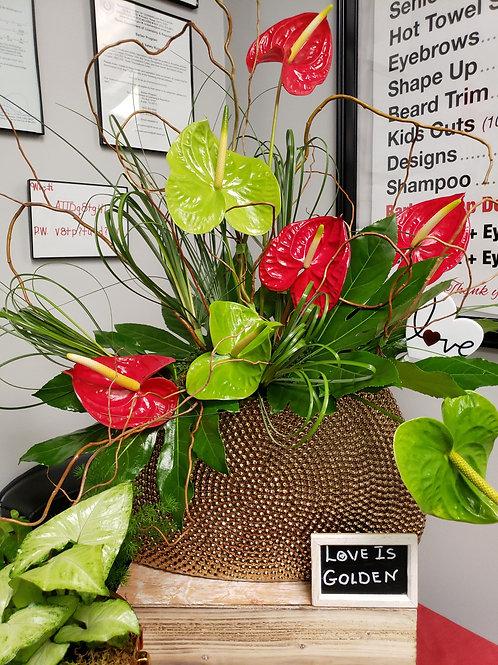THT TX LOVE GOLDEN Centerpiece Vase