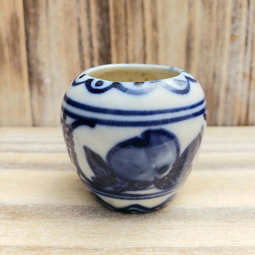 Vintage Porcelain Bird Cage Feeder