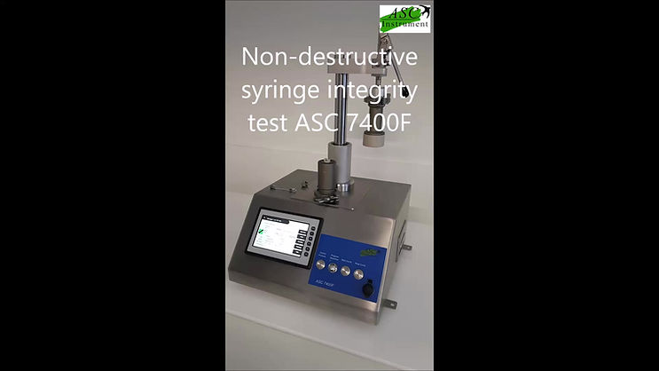 Syringe integrity test with ASC 7400F