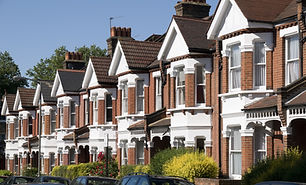 English Homes.Row of Typical English Ter