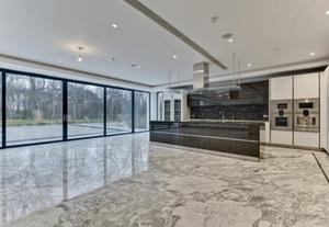 Marble floor kitchen