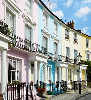Colorful London houses in Primrose hill,