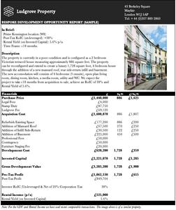 Property Development Opportunities Prime London