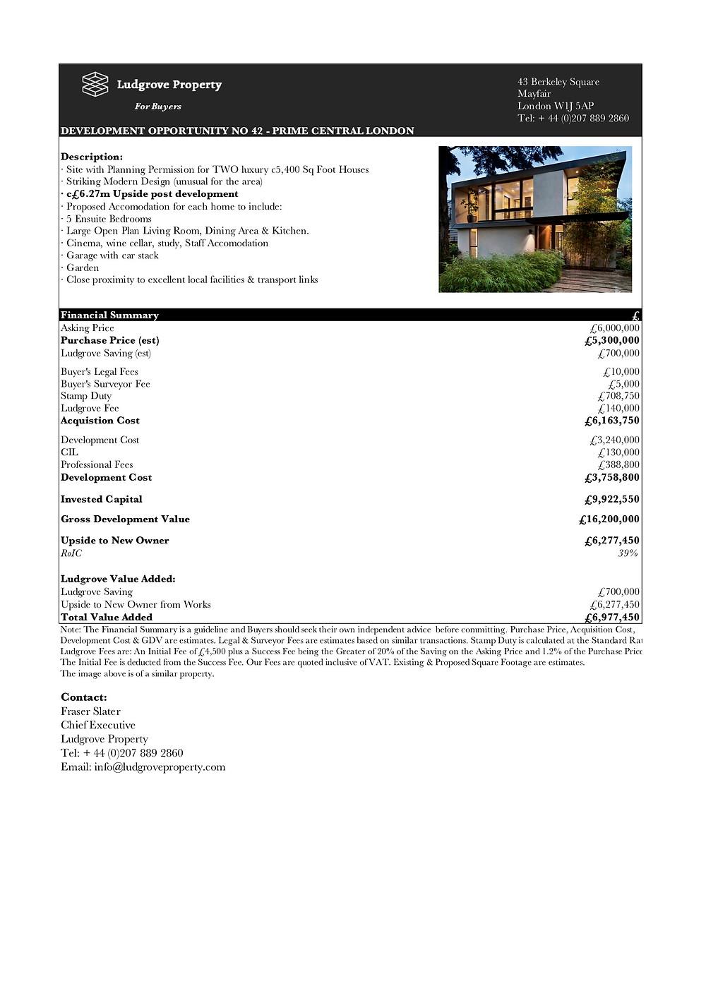 London Property Finder Ludgrove Development Opportunity