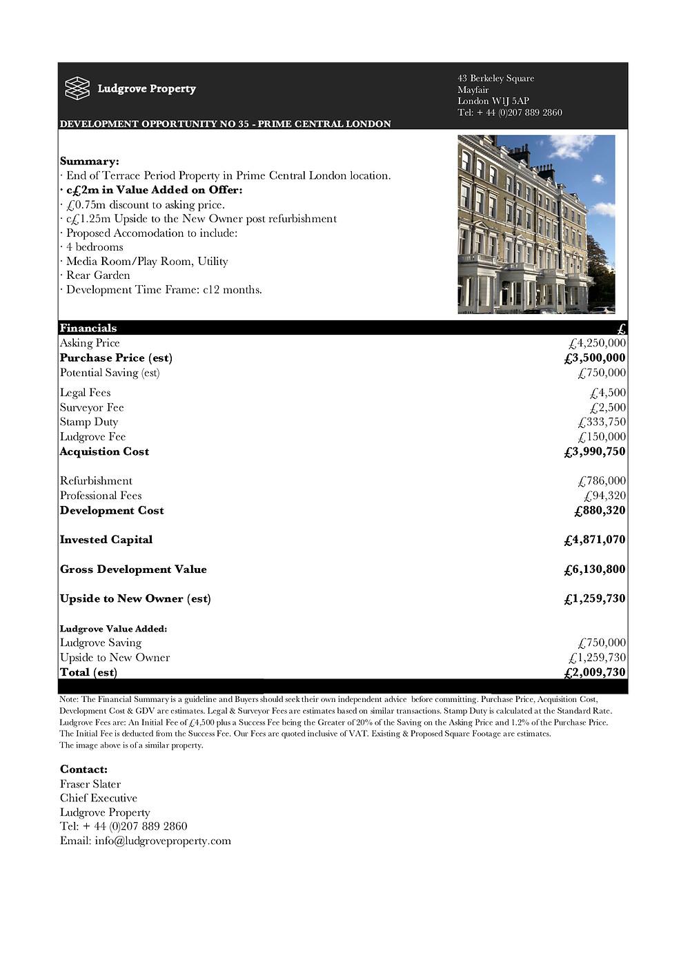 London Property Finder Ludgrove Development Opportunity London