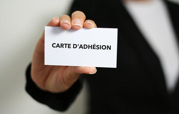 Carte adhésion 1 an