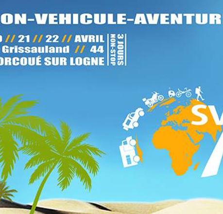 Affiche du salon du véhicule d'aventure 2018