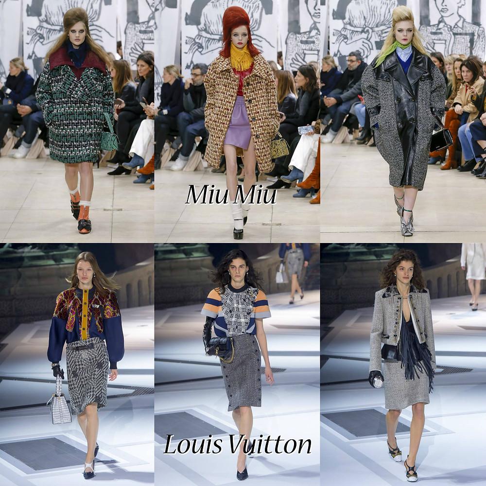 Louis Vuitton and Miu Miu