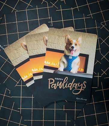 Pino Post Card - Happy Pawlidays!