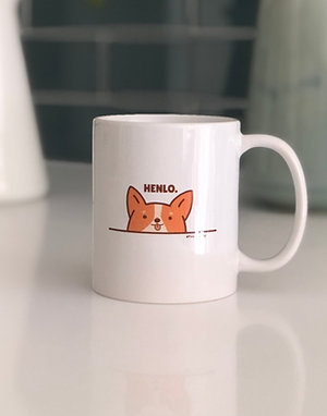 'Henlo' Corgi 2-Sided Mug - 8oz