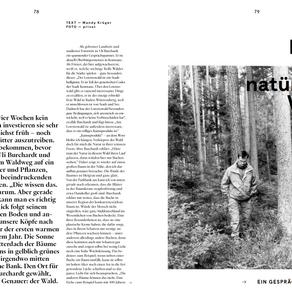 Die Illusion der natürlichen Vielfalt. Ein Gespräch zwischen Bäumen.