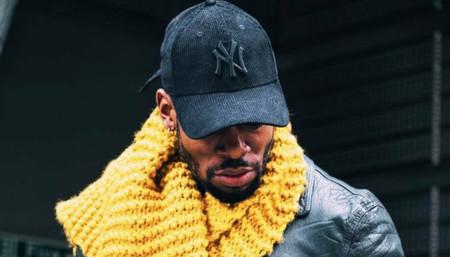 Godson in his mustard scarf