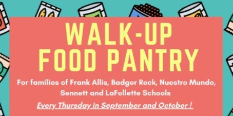 Second Harvest, La Follette and Other Areas Team Up for Walk-Up Food Pantry