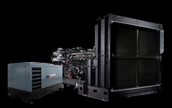 dos generadores electricos diesel uno con cabina acustica