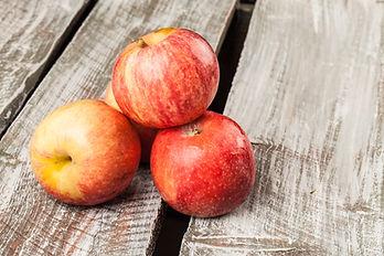 organic apple on a weathered old barn wo