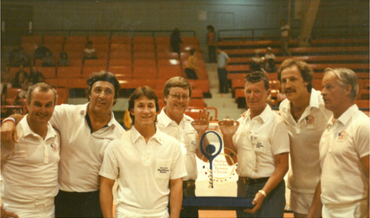 These are just a few of the NHL Stars who participated in my tennis tournament. This is also my first meeting with my lifelong mentor, Gordie Howe, seen here at right side of the picture.