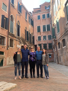 This is how I use my air miles.  Nothing is more rewarding for my wife Patti and I than showing our children the world and sharing in the adventure.  Venice was wonderful but I had no idea crossing bridges would involve climbing so many stairs.
