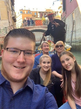 When you get tired of the bridges, the best thing to do is go under them on a gondola.  More scenic too, so the kids tell me.