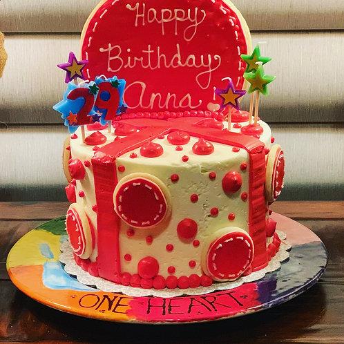 Birthday present cookie cake