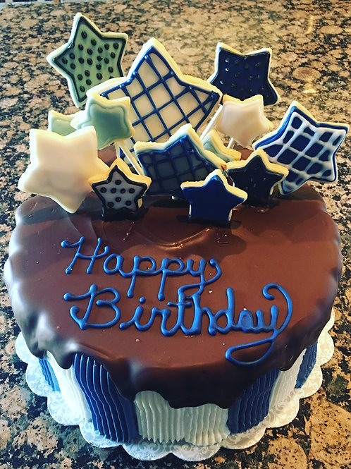 Star Cookie Birthday Cake
