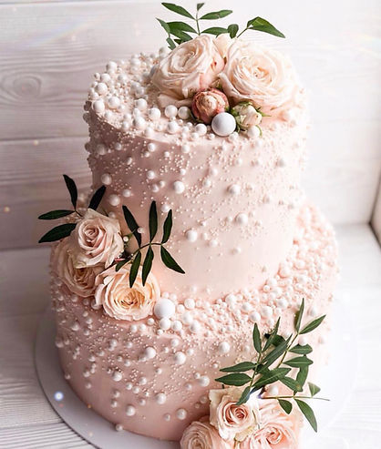 blush and pearl rose wedding cake.jpg