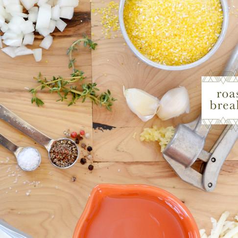 test kitchen :: roasted tomato breakfast polenta
