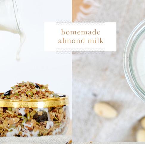 recipes :: homemade almond milk