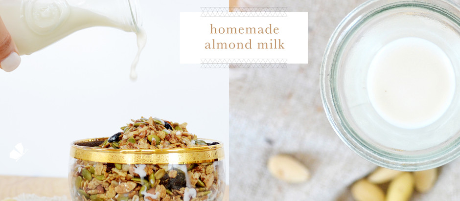 recipes :: homemade almond milk