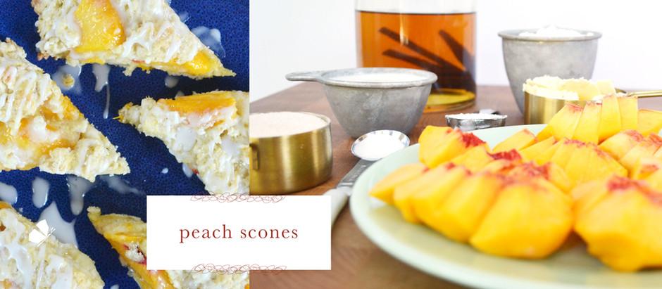 recipes :: peach scones