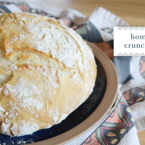 recipes :: crunchy bread [from scratch!]